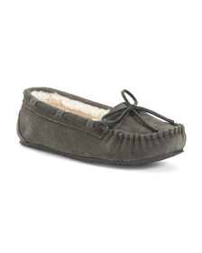 MINNETONKA Suede Junior Trapper Moccasins