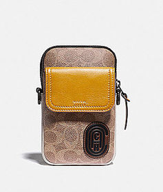 Coach pacer convertible pouch in colorblock signat