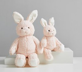 Pottery Barn Blush Long Ear Metallic Bunny Plush T