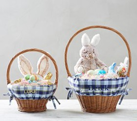Pottery Barn Plaid Easter Basket Liners
