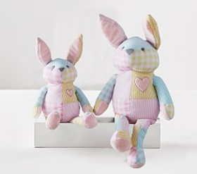 Pottery Barn Pink Gingham Plush Bunny