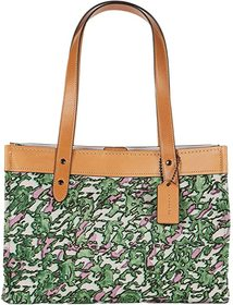 COACH COACH - Canvas Tote 33. Color V5/Washed Gree