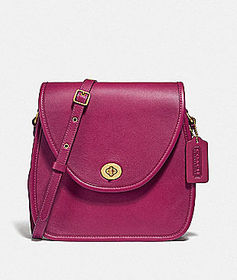 Coach turnlock flap square pouch