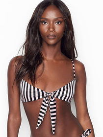 Victoria Secret Unlined Tie-front Bandeau