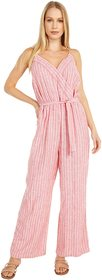 Vince Camuto Sleeveless Tranquil Stripe Wrap Front