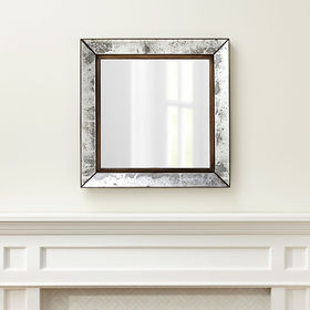 Crate Barrel Dubois Large Square Wall Mirror