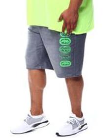 Ecko neon lights rhino repeat denim short (b&t)