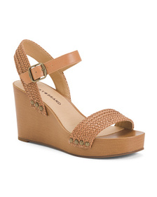 LUCKY BRAND Woven Band On Wooden Wedges