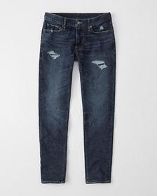 Ripped Super Skinny Jeans, RIPPED DARK WASH