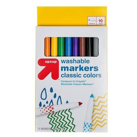 10ct Fine Tip Washable Markers Classic Colors - Up