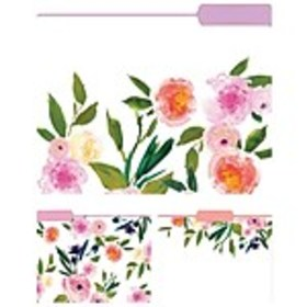 Eccolo Floral Top Tab File Folders, Letter Size, 3