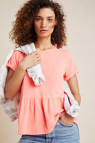 Anthropologie Lani Peplum Tee