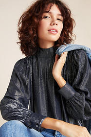 Anthropologie Chantel Velvet Blouse