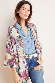 Anthropologie Simone Floral Cardigan