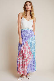 Anthropologie Violetta Pleated Maxi Skirt