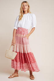 Anthropologie DOLAN Collection Freja Tiered Maxi S