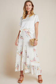 Anthropologie Hannah Eyelet Maxi Skirt