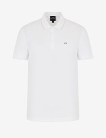 Armani POLO WITH CONTRASTING INSERTS