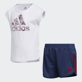 Adidas Children Training Soccer Shorts and Tee Set