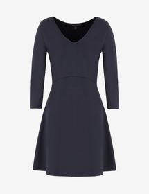 Armani DRESS WITH SCOOPED PLUNGE BACK