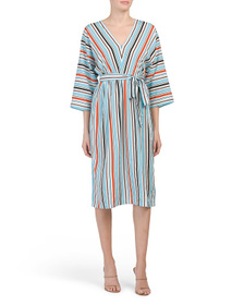 FRENCH CONNECTION Stripe Dolman Dress