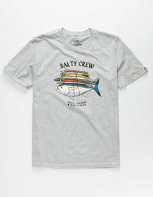 SALTY CREW Voyager Boys Heather Gray T-Shirt