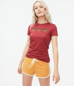 Aeropostale Butterfly Trio Graphic Tee