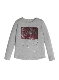 Sequin Hashtag Long-Sleeve Tee (7-14)