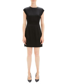 Theory Structured Fitted Short-Sleeve Cocktail Dre