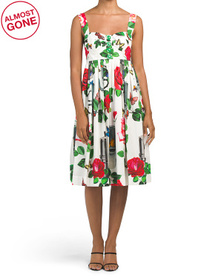 DOLCE & GABBANA Made In Italy Sleeveless Rose And