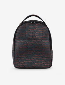 Armani BACKPACK WITH CONTRASTING LETTERING