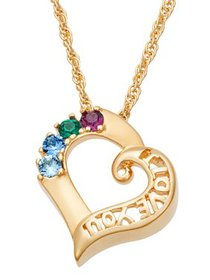 Family Jewelry Personalized Mother's 14kt Gold-Pla
