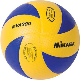 Mikasa MVA200 Official FIVB Game Volleyball, Blue