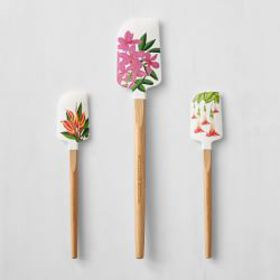 Hawaiian Flowers Silicone Spatulas, Set of 3