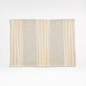 Crate Barrel Grid Embroidered Placemat