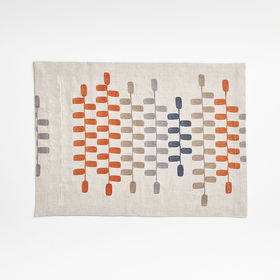 Crate Barrel Frequency Embroidered Placemat