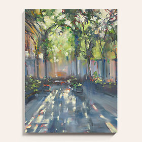 Courtyard Stretched Canvas