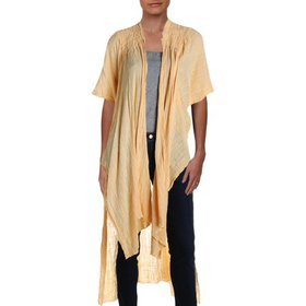 FP One Womens Angelica Open Front Long Kimono