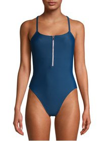 JUICY COUTURE LADIES 1 PC SWIMSUIT WITH ZIPPER DET