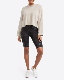 Spanx Faux Leather Camo Bike Short