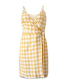BCBGeneration - Gingham Wrap Dress