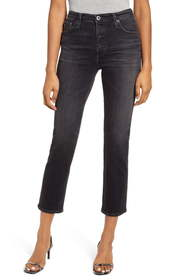 AG The Isabelle High Waist Button Front Ankle Stra