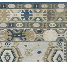 Pottery Barn Rowan Custom Kilim Rug-Gray Multi, 9