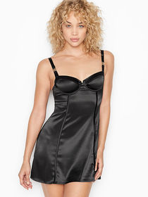 Victoria Secret Logo Hardware Bustier Slip Dress