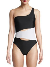 Juicy Couture Women's 1 Piece One Shoulder Swimsui