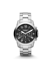 Fossil Men's Grant Silver Tone Stainless Steel Wat