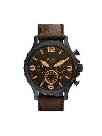 Fossil Men's Nate Chronograph Brown Leather Band W