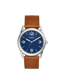 Fossil Men's Ledger Three-Hand Brown Leather Watch