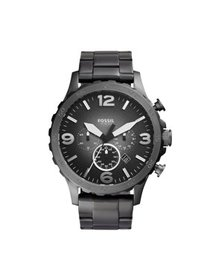 Fossil Men's Nate Chronograph Smoke Stainless Stee