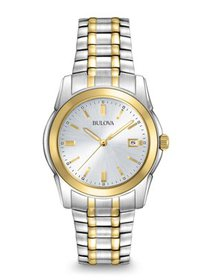 Bulova Men's Two-Tone Watch with Silver-Tone Dial